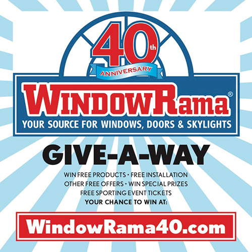 Windowrama 40th Anniversary WindowCling